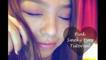Pink Smoky Eyes Makeup Tutorial - 紛紅煙燻妝