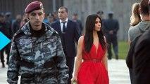 Kim Kardashian Lays Flowers at Armenian Memorial