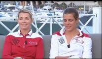 Charlotte Casiraghi Interview - Edwina Alexander and  Charlotte Global Champions Tour Monaco 2011