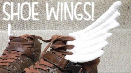 DIY长翅膀的鞋子,咻咻咻,灰起来! - hellosharla