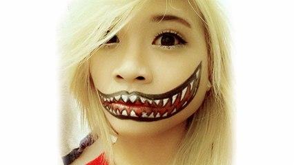 Crazy Halloween Makeup Tutorial | Hellosharla