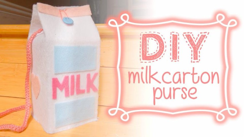 DIY: 卡通牛奶盒造型的背包/钱包 - hellosharla