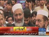 Will see who conducts politics of bullets in Karachi Sirajul Haq
