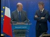 Archive - Passation de pouvoirs entre François Baroin et Pierre Moscovici