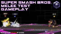 Super Smash Bros Melee Gameplay - Nintendo Gamecube - Peach Sheik Donkey Kong