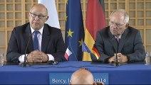 Archive - Rencontre franco-allemande à Bercy, le 28 août 2014