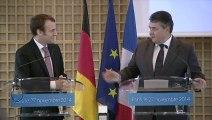 Archive - Conférence de presse d'Emmanuel Macron et Sigmar Gabriel sur le rapport Pisani-Ferry-Enderlein