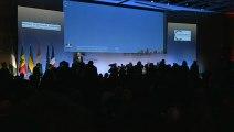 Archive - Laurent Fabius, Michel Sapin et Emmanuel Macron au Forum franco-africain
