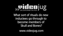 What sort of rituals do new inductees go through to become members of Skull and Bones?: Skull And Bones
