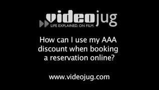How can I use my AAA discount when booking a reservation onl