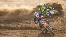 KTM 450 SX-F and Husqvarna FC 450 - 2015 Dirt Rider 450 MX Shootout Video