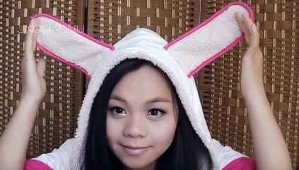 学生妹暑期萌起来!萌兔兔妆萌出新高度!