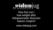 How fast can I lose weight after biliopancreatic diversion bypass surgery?: Biliopancreatic Diversion