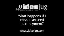 What happens if I miss a secured loan payment?: Problems With Loans