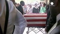 ABD'de polis tarafından öldürülen Scott için cenaze töreni düzenlendi