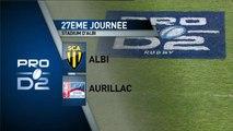 PROD2, J27 - Albi-Aurillac: 28-16 - J27 – saison 2014-2015