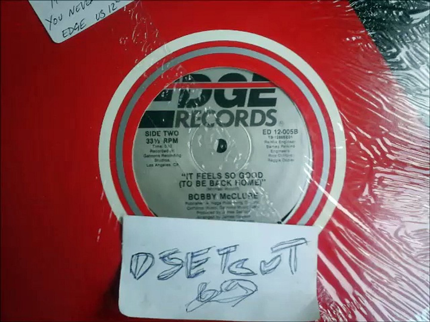 BOBBY McCLURE -IT FEELS SO GOOD(TO BE BACK HOME)(RIP ETCUT)EDGE REC 80's