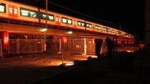 Delft Laatste trein over viaduct