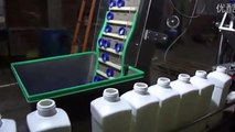 12 heads in line filling line liquid filler capper system for square bottles capping machines
