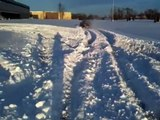 "Plowing 20"" of fresh snow Subaru Impreza 2.5 RS"