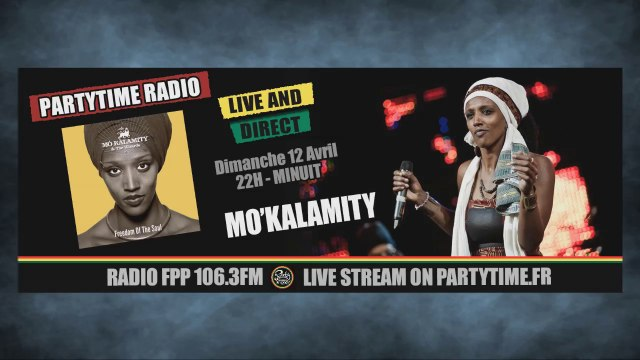 Mo Kalamity at Party Time reggae Radio show - 12 AVRIL 2015