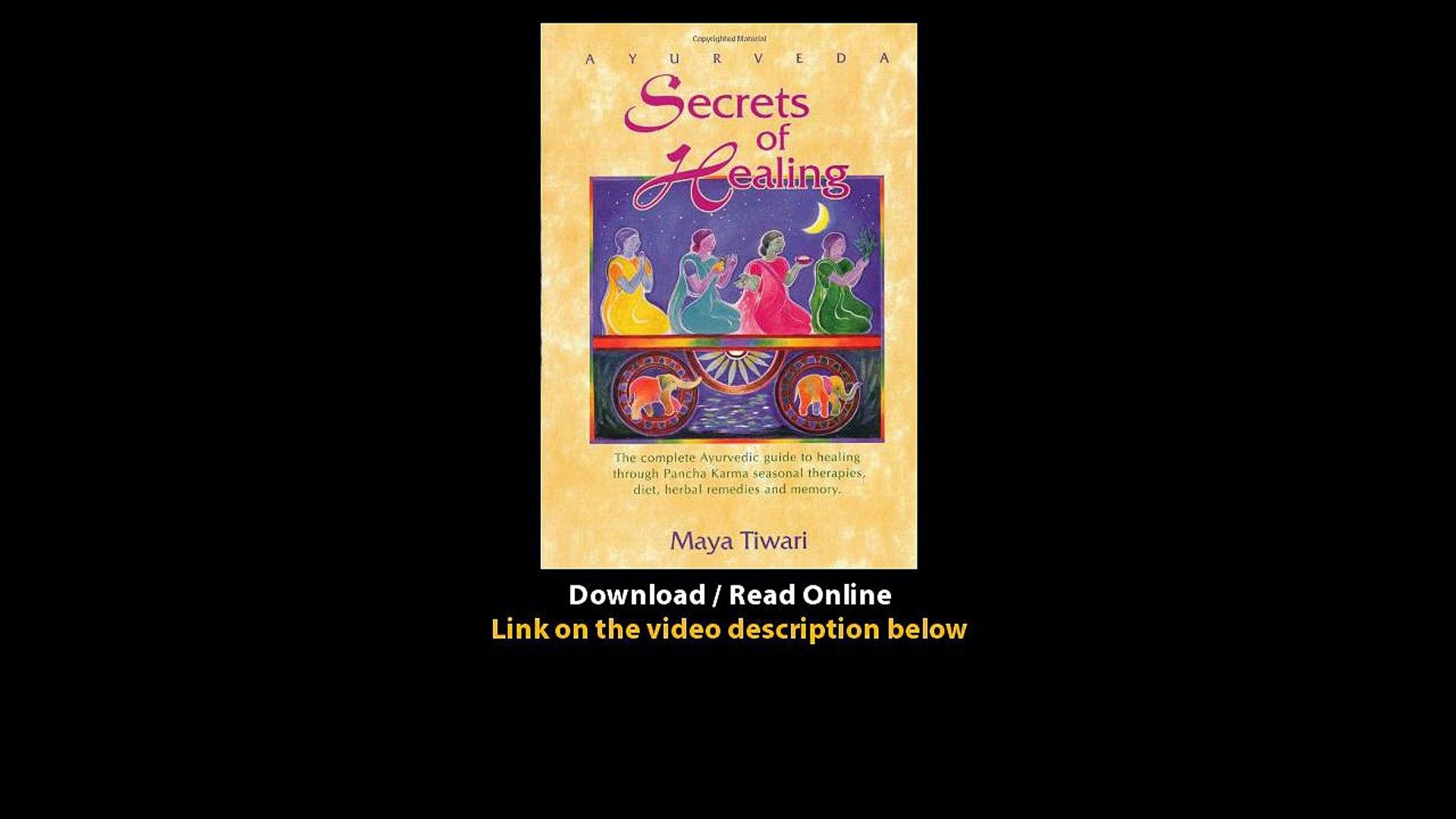 ayurveda secrets of healing maya tiwari free download