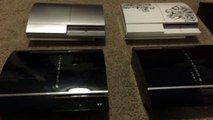 PS3 PLAYSTATION 3 CONSOLE COLLECTION 2014 UPDATE EDITION- SOME RARE PS3 CONSOLES
