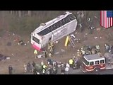 Strange bus crash: bus drives erratically, rolls over, crashes, injuring Indiana Tech bowling team