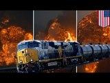 West Virginia CSX oil tanker train derailment causes massive fires and explosions