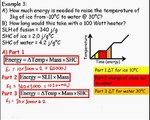 Specific heat capacity and latent heat practice questions