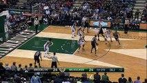 Michael Carter-Williams Slam Dunk - Nets vs Bucks - April 12, 2015 - NBA Season 2014-15