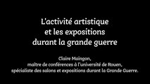 """Conférence """"L'activité artistique et les expositions durant la grande guerre"""" - par Claire Maingon"""