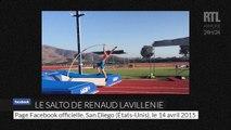 Renaud Lavillenie réussit un salto en saut à la perche