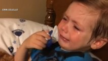Toddler cries after Hillary Clinton announces presidential bid
