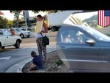 Fake beggar! Pregnant panhandler has a Benz, lives in expensive apartment in San Diego