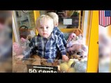 Kids stuck in stuff: Toddler rescued after crawling into toy vending machine
