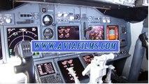 Boeing 737 real flight simulator full traffic circuit (take-off & landing)