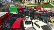 GTA 5 Online Funny Moments - Car Pile Explosion, Racist Cops, VanossFitness!