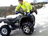 quad bike ICE STUNTS !!