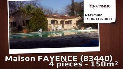 FAYENCE - Fayence : Villa 150 m² de plein pied avec piscine