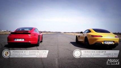 Drag Race : AMG GT S défie la 911 Carrera GTS