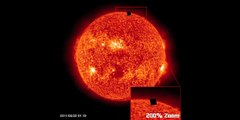 Giant Black Cube Near The Sun As Seen On SOHO(NASA) Photographs