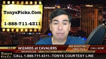 Cleveland Cavaliers vs. Washington Wizards Free Pick Prediction NBA Pro Basketball Odds Preview 4-15-2015