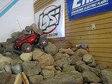 (HD) Traxxas Summit Rock Crawling indoors @ HobbyTown USA meet in Concord Ca.