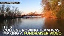A School Of Flying Fish Hit This College Rowing Team
