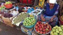 Tajikistan: Green Bazaar in Dushanbe  タジキスタン旅行 ドゥシャンベの青果マーケット