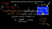Specific heat and latent leat of fusion and vaporization