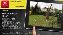 A vendre - maison - BERGERAC (24100) - 3 pièces - 80m²