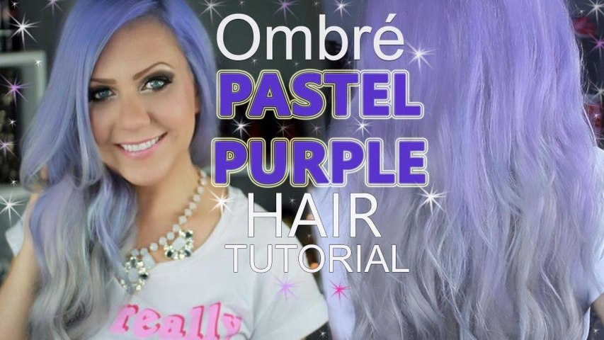 DIY: PURPLE OMBRE HAIR - EASY LILAC AND SILVER OMBRE AT HOME