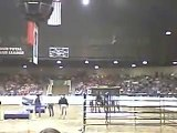 Friesian stallion in Extreme Cowboy Race in Ohio